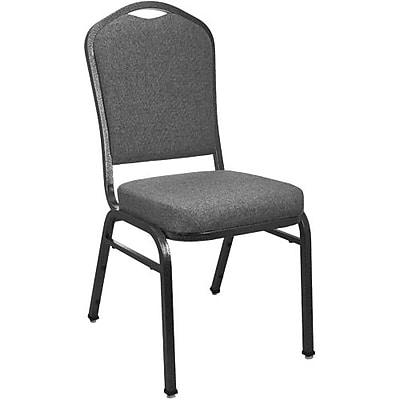 Advantage Premium Charcoal Gray Crown Back Banquet Chair, 25 Pack (CBMW-211)