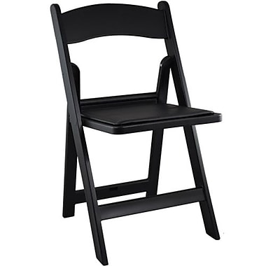 Advantage Black Resin Folding Wedding Chairs 4 Pack (RFWCA-101-4)