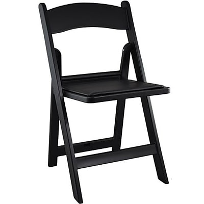 Advantage Black Resin Folding Wedding Chairs 4 Pack (RFWCA-101-4)