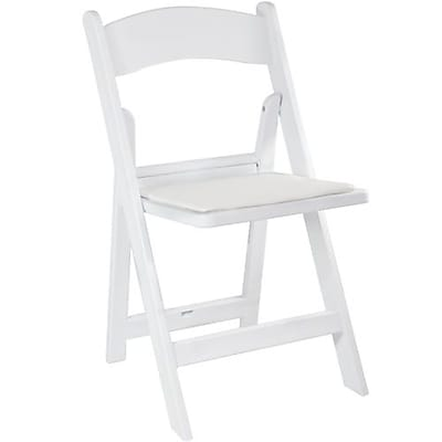 Advantage White Resin Folding Wedding Chairs 4 Pack (RFWCA-100-4)