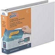 """QuickFit Deluxe Heavy Duty 1.5"""" View Binder, White (97120)"""