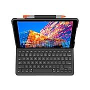 "Logitech 920-009482 Slim Folio Plastic Keyboard Case for 10.5"" iPad Air, Graphite"