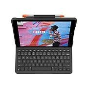 "Logitech 920-009473 Slim Folio Plastic Keyboard Case for 10.2"" iPad, Graphite"