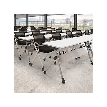 """Bush Business Furniture Training Room Table, 23.35"""" x 59.45"""", White (FTW160WHK)"""