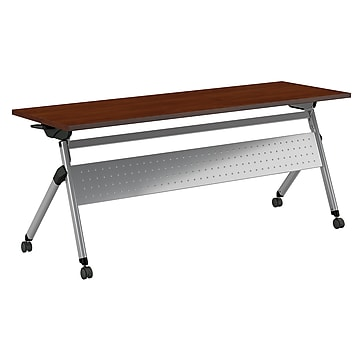 "Bush Business Furniture Folding Training Room Table, 23.35"" x 71.02"", Hansen Cherry (FTW172HCK)"