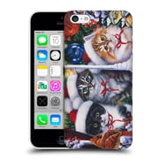 Official Christmas Mix Pets Jenny Newland Cats In Window Hard Back Case For Apple Iphone 5C
