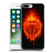 Official Christos Karapanos Horror Flaming Cat Hard Back Case For Apple Iphone 7 Plus