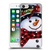 Official Christmas Mix Snowman William Vanderdasson Perched Hard Back Case For Apple Iphone 7