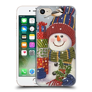 Official Christmas Mix Snowman William Vanderdasson Presents Hard Back Case For Apple Iphone 7