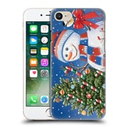 Official Christmas Mix Snowman William Vanderdasson Decorating Tree Hard Back Case For Apple Iphone 7