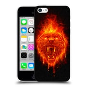 Official Christos Karapanos Horror Flaming Cat Hard Back Case For Apple Iphone 5C
