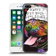 Official Christmas Mix Pets Dean Russo Pitbull Hard Back Case For Apple Iphone 7 Plus