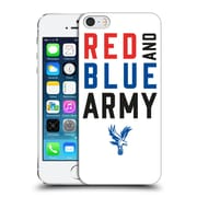 Official Crystal Palace Fc The Eagles Red & Blue Army Hard Back Case For Apple Iphone 5 / 5S / Se