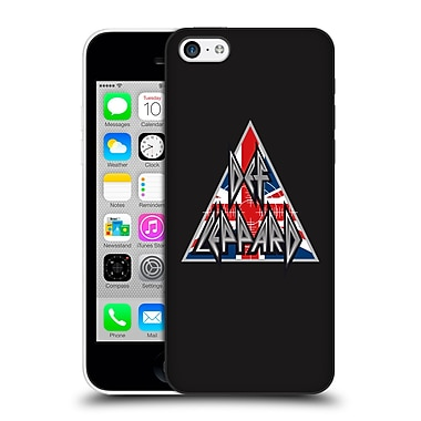 Official Def Leppard Design Target Union Jack Hard Back Case For Apple Iphone 5C