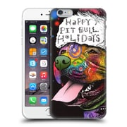Official Christmas Mix Pets Dean Russo Pitbull Hard Back Case For Apple Iphone 6 Plus / 6S Plus