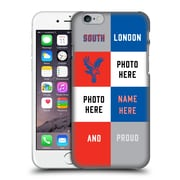 Custom Customised Personalised Crystal Palace Fc 2016/17 South London And Proud Hard Back Case For Apple Iphone 6 / 6S