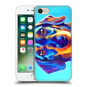 Official Dawgart Dogs Dachsund Oscar Hard Back Case For Apple Iphone 7