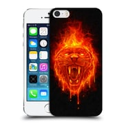 Official Christos Karapanos Horror Flaming Cat Hard Back Case For Apple Iphone 5 / 5S / Se