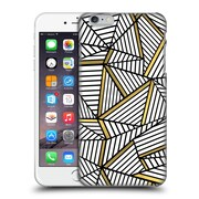 Official Project M Abstract Lines Two Tone White And Black Gold Hard Back Case For Apple Iphone 6 Plus / 6S Plus