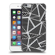 Official Project M Abstract Lines Two Tone Black Silver Hard Back Case For Apple Iphone 6 Plus / 6S Plus