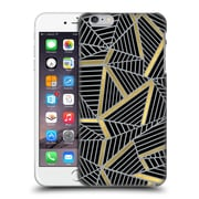 Official Project M Abstract Lines Two Tone Black Gold And Grey Hard Back Case For Apple Iphone 6 Plus / 6S Plus