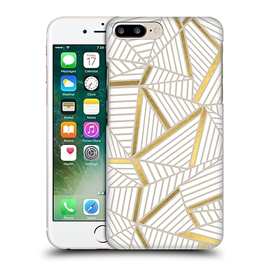 Official Project M Abstract Lines Two Tone Golden Hard Back Case For Apple Iphone 7 Plus