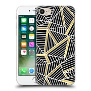 Official Project M Abstract Lines Two Tone Black Gold Hard Back Case For Apple Iphone 7