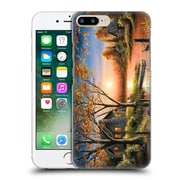Official Chuck Black Cabin An Autumn Sunset Hard Back Case For Apple Iphone 7 Plus