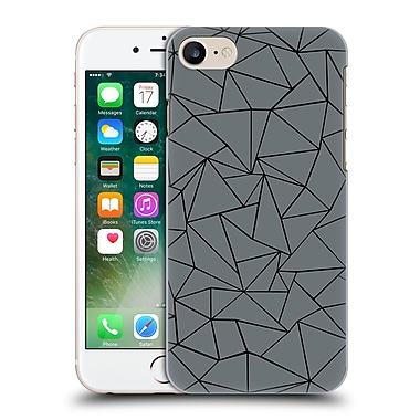 Official Project M Abstract Outline Grey And Black Hard Back Case For Apple Iphone 7