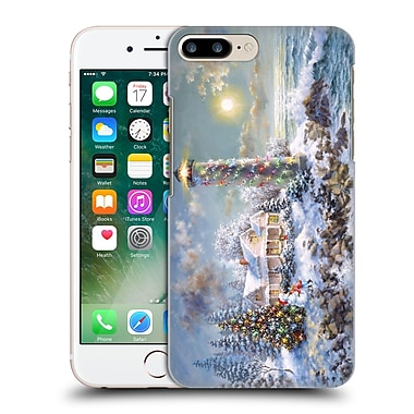 Official Christmas Mix Winter Wonderland Nicky Boehme Lighthouse Merriment Hard Back Case For Apple Iphone 7 Plus