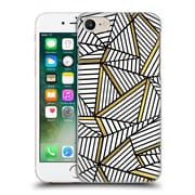 Official Project M Abstract Lines Two Tone White And Black Gold Hard Back Case For Apple Iphone 7