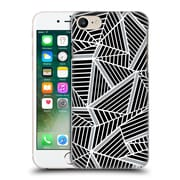 Official Project M Abstract Lines Two Tone Black Silver Hard Back Case For Apple Iphone 7