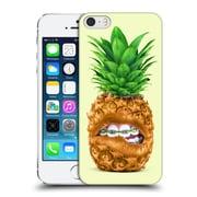 Official Paul Fuentes Pastels Pineapple Braces Sq Hard Back Case For Apple Iphone 5 / 5S / Se
