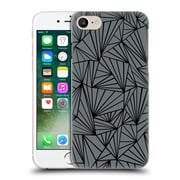 Official Project M Abstract Fan Grey And Black Hard Back Case For Apple Iphone 7