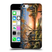 Official Chuck Black Cabin An Autumn Sunset Hard Back Case For Apple Iphone 5C
