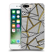 Official Project M Abstract Lines Two Tone White And Black Gold Hard Back Case For Apple Iphone 7 Plus