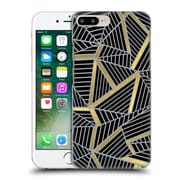 Official Project M Abstract Lines Two Tone Black Gold And Grey Hard Back Case For Apple Iphone 7 Plus
