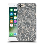 Official Project M Abstract Fan Grey And Nude Hard Back Case For Apple Iphone 7