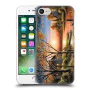 Official Chuck Black Cabin An Autumn Sunset Hard Back Case For Apple Iphone 7