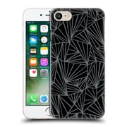 Official Project M Abstract Fan Black And Grey Hard Back Case For Apple Iphone 7