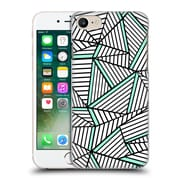 Official Project M Abstract Lines Two Tone White Mint Hard Back Case For Apple Iphone 7