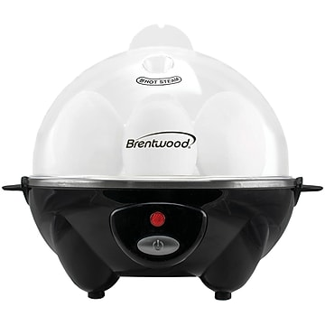 Brentwood Appliances Electric Egg Cooker with Auto Shutoff, Black (TS-1045BK),Size: med