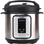 Brentwood Appliances 6-Quart 8-in-1 Easy Pot Electric Multicooker, Silver (EPC-636)