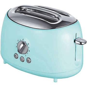 Brentwood Appliances Cool-Touch 2-Slice Retro Toaster with Extra-Wide Slots, Blue (TS-270BL)