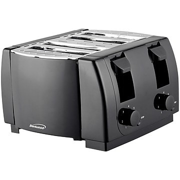 Brentwood Appliances Cool Touch 4-Slice Toaster, Black (TS-285)
