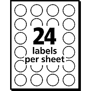 """Avery Laser Color Coding Labels, 3/4"""" Dia., Neon Green, 1008 Labels Per Pack (5468)"""