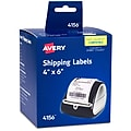 """Avery Thermal Shipping Labels, 4"""" x 6"""", White, 220 Labels Per Pack (4156)"""