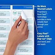 """Avery Easy Peel Inkjet Address Labels, 1/2"""" x 1 3/4"""", White, 2000 Labels Per Pack (8167)"""