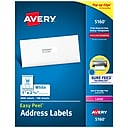"""Avery Easy Peel Laser Address Labels, 1"""" x 2 5/8"""", White, 3000 Labels Per Pack (5160)"""