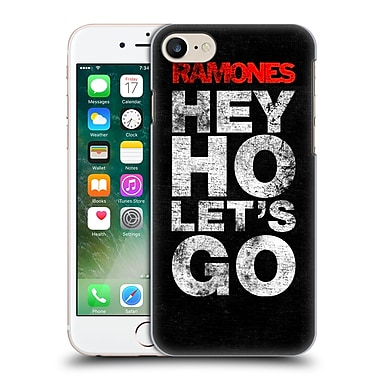 Official Ramones Key Art Hey Ho Let'S Go Hard Back Case For Apple Iphone 7